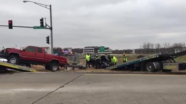 Troopers say one person died in a crash Tuesday morning in Springfield.