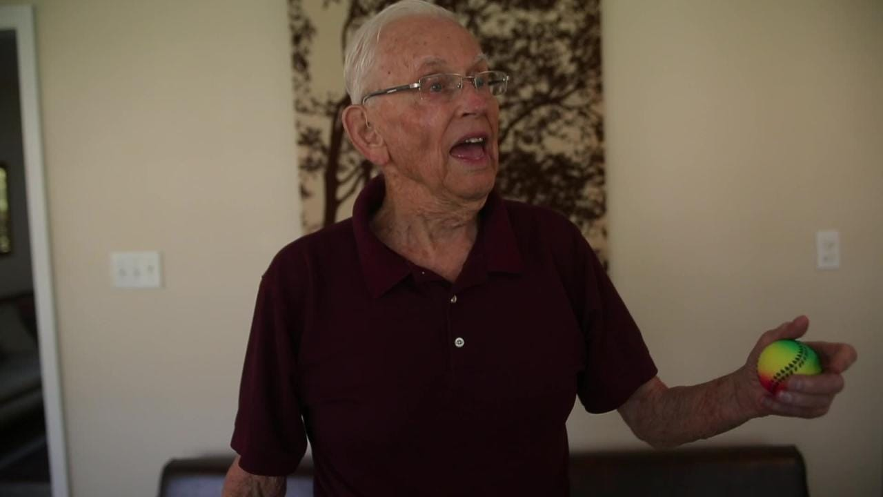 Don Rapp learned to juggle in only four days at age 12.