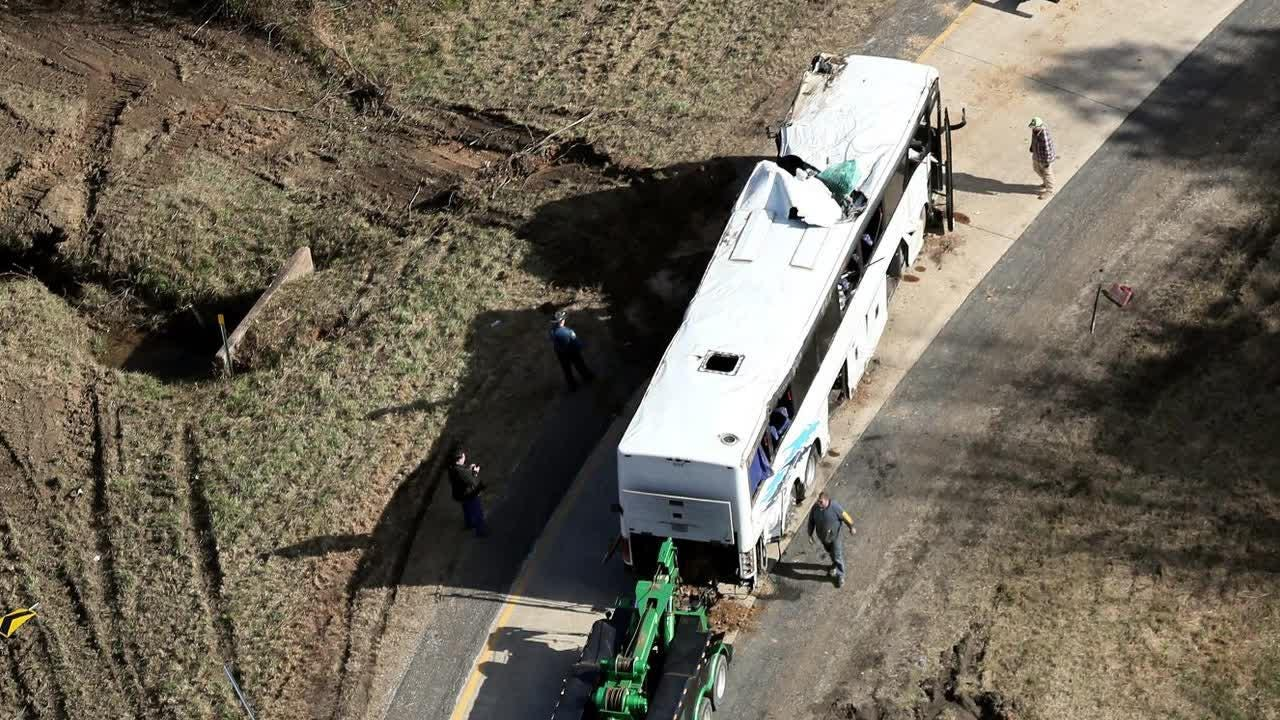 The Commercial Appeal obtained audio recordings of the 911 call from an adult male inside the bus made moments after the wreck.