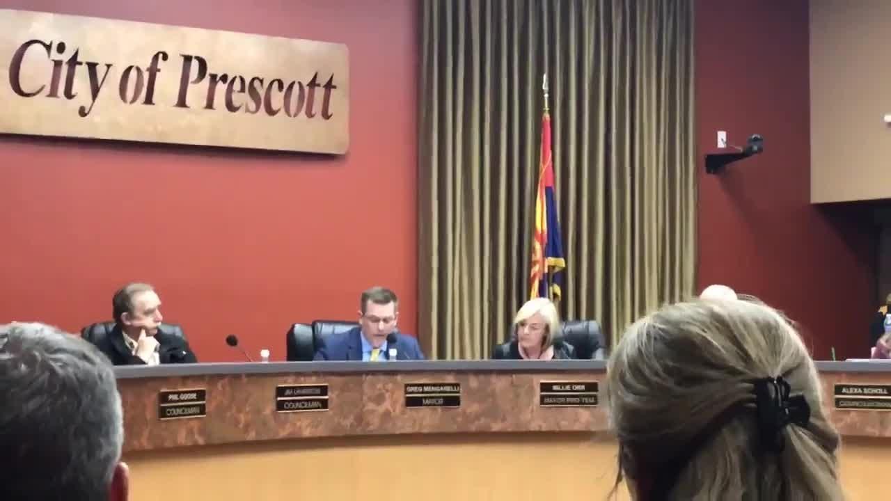 Prescott mayor reads statement calling for David Stringer's resignation