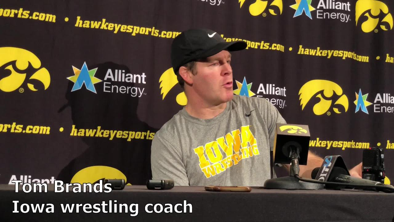 Iowa wrestling coach Tom Brands delivered some bad news regarding Myles Wilson on Tuesday in Iowa City.