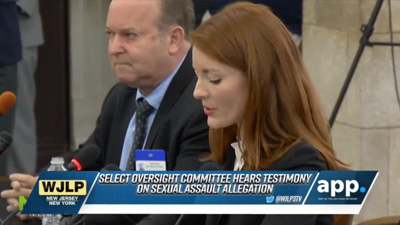 Katie Brennan testifies before the Select Oversight Committee in Trenton; honoring President George H.W. Bush