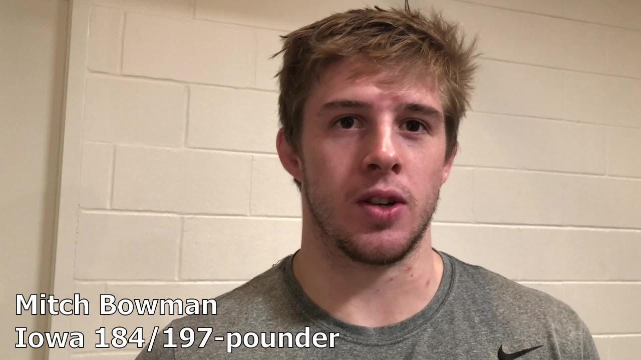 Mitch Bowman discusses his current role with the Iowa wrestling program and the possibility of dropping to compete at 174 pounds.
