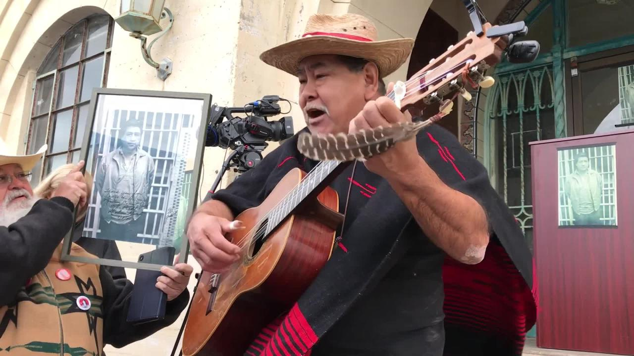 Noe Yaocoatl Montoya participated in vigils outside the old jail where Chavez was imprisoned in 1970. He is now a performer with Teatro Campesino.