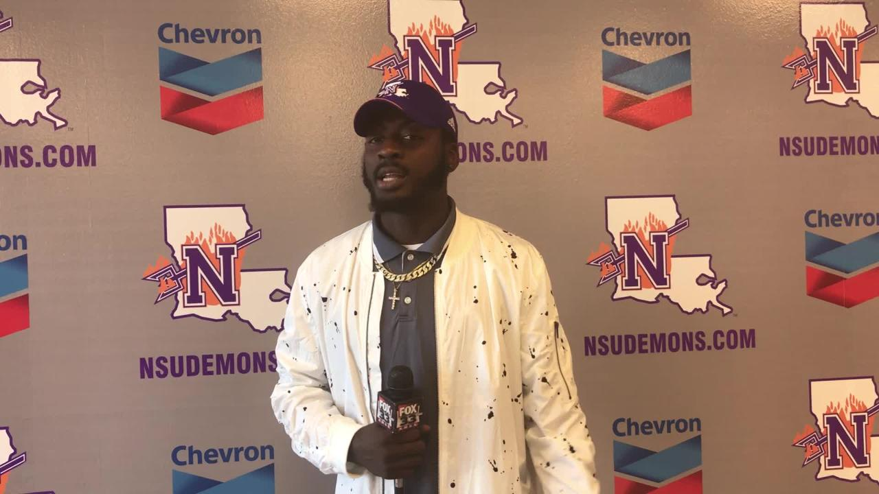 Wide receiver Jazz Ferguson will enter the NFL Draft after one season at Northwestern State.
