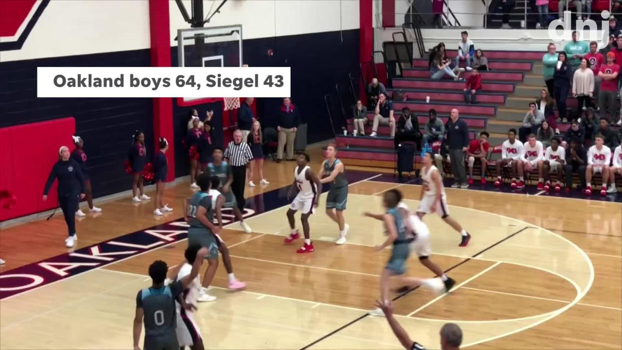 Highlights of Oakland's girls and boys wins over Siegel Tuesday.