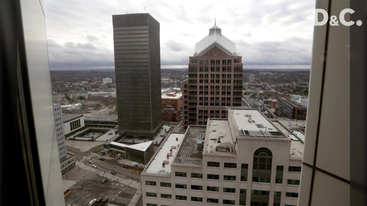 Residential and commercial spaces at The Metropolitan in downtown Rochester.