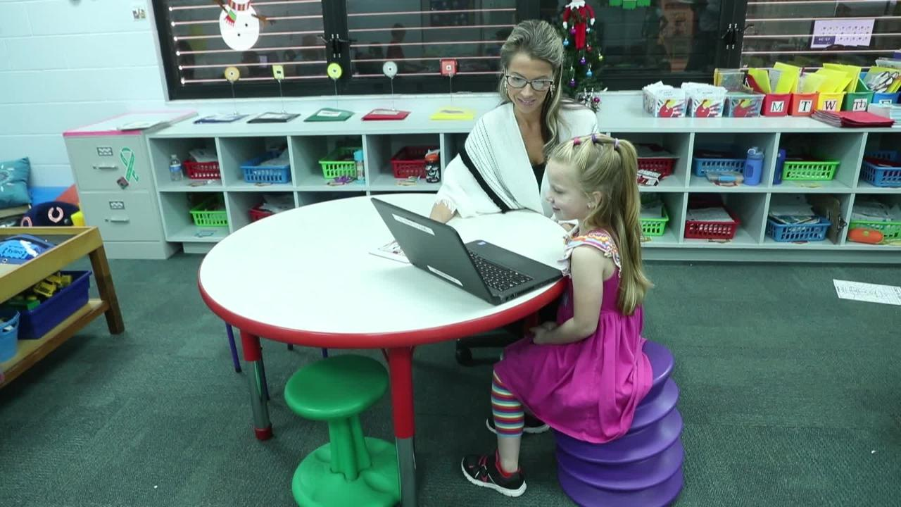 Flexible seating at Gulf Elementary School gives students choices