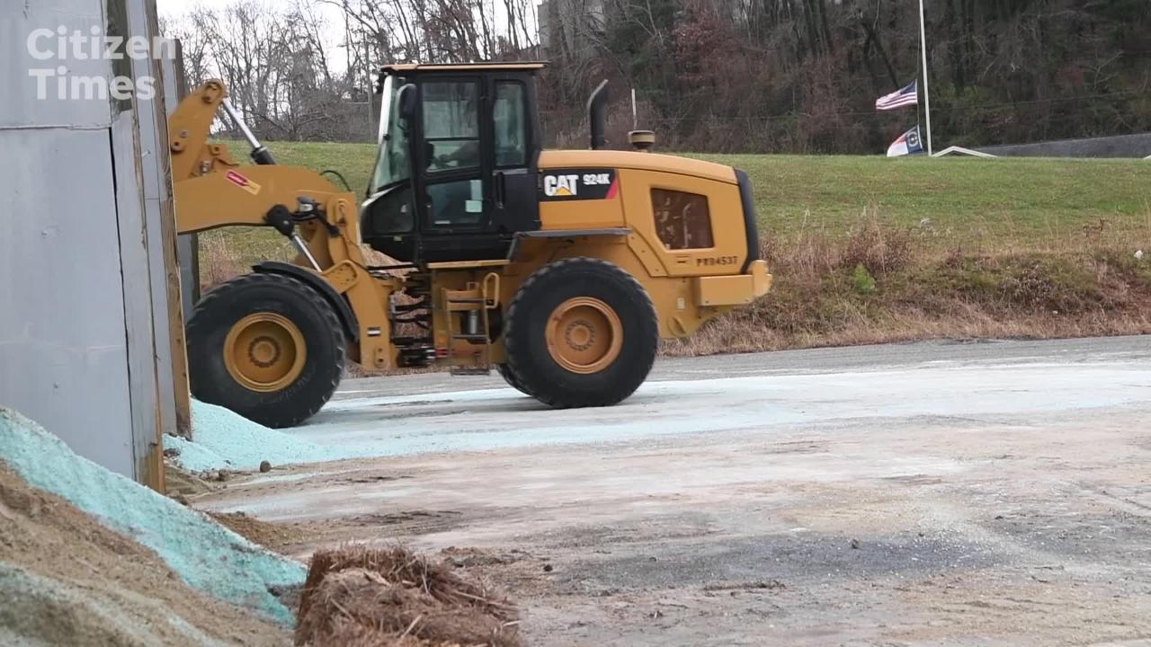 Scott Killough, NC DOT maintenance engineer in Buncombe County, talks about the preparations for this weekend's predicted snowstorm.