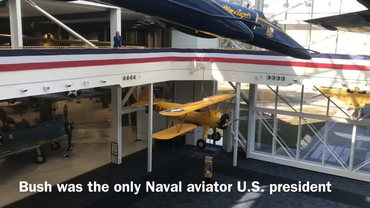 The National Naval Aviation Museum at Pensacola Naval Air Station honors former President George H.W. Bush