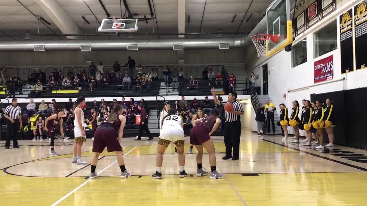 Lady Tiger Faith Silva scores a free throw  at the Tularosa at Alamogordo girls basketball game Tuesday