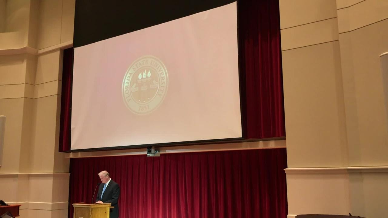 Thrasher gave his 2018 State of the University Address at the College of Medicine Wednesday afternoon.