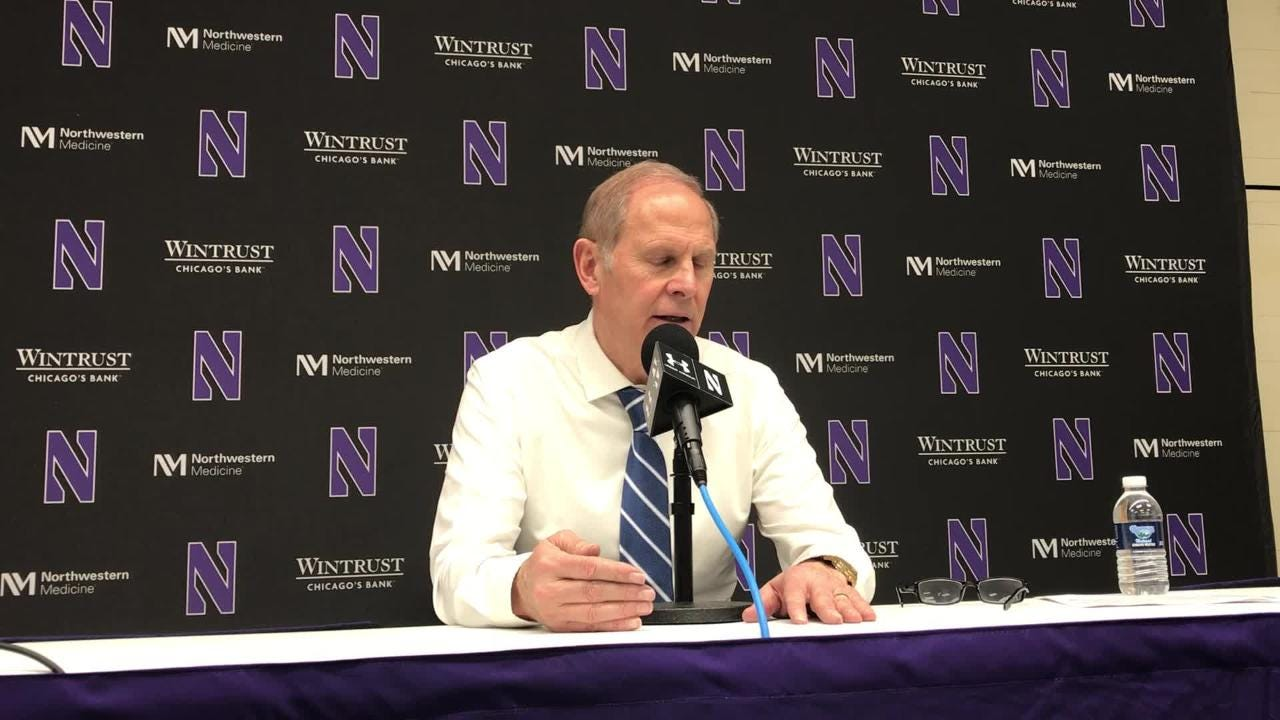 Michigan basketball coach John Beilein speaks to the media after the 62-60 win over Northwestern on Tuesday, Dec. 4, 2018, in Evanston, Ill.