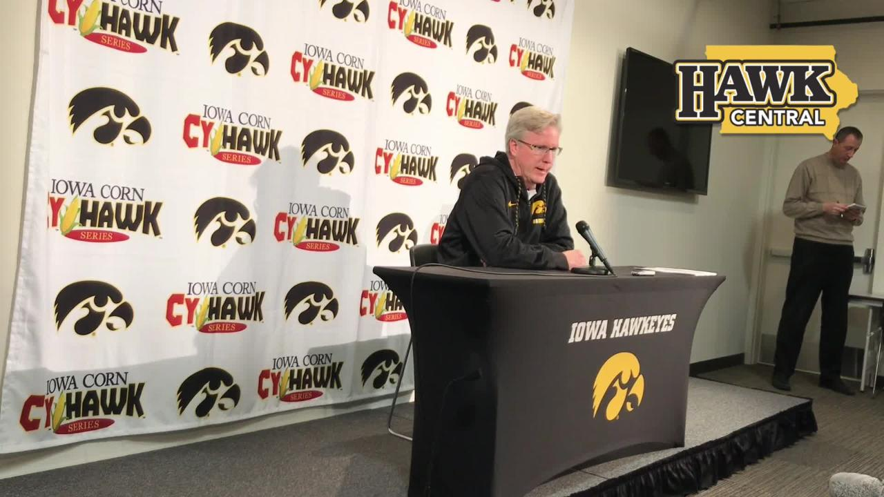Iowa basketball coach Fran McCaffery has a detailed breakdown of what he things of the Iowa State team