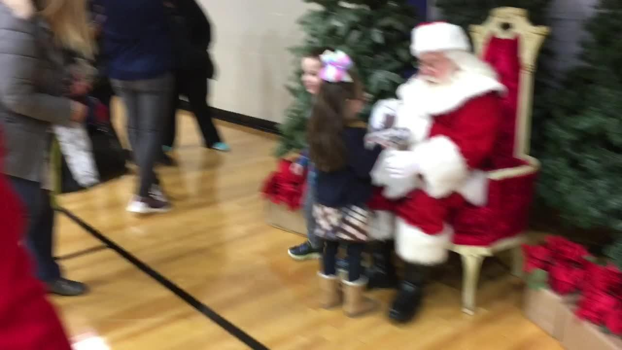 Santa comes to Canton, lights the tree, meets some kiddies. You know the drill.