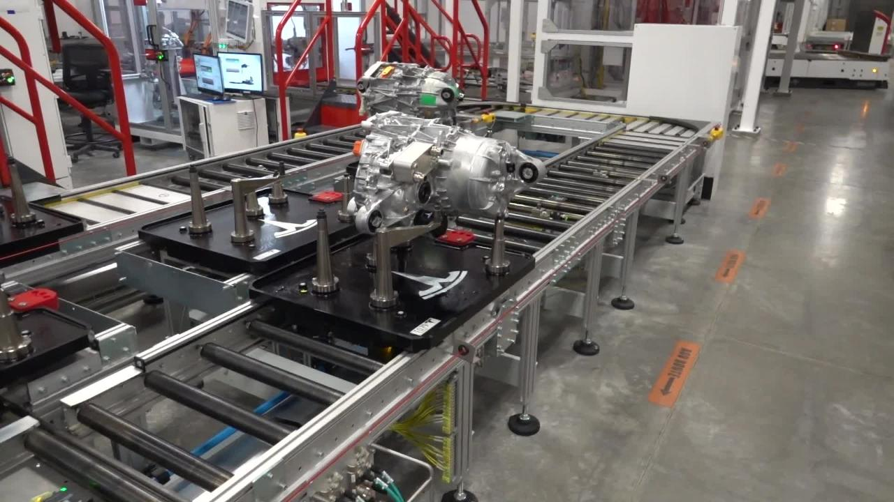 Here's our tour inside Tesla's Gigafactory, from battery cells to drive trains