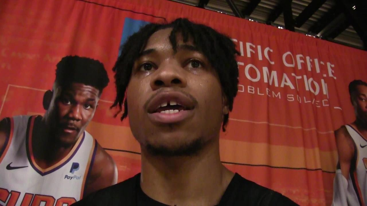 Phoenix Suns reserve power forward/center Richaun Holmes talks about working out before and after games, a routine he picked up this season.