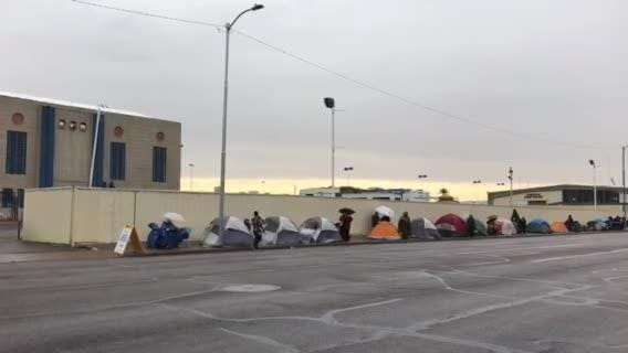 Dozens camp out for free dental care at State Fairgrounds