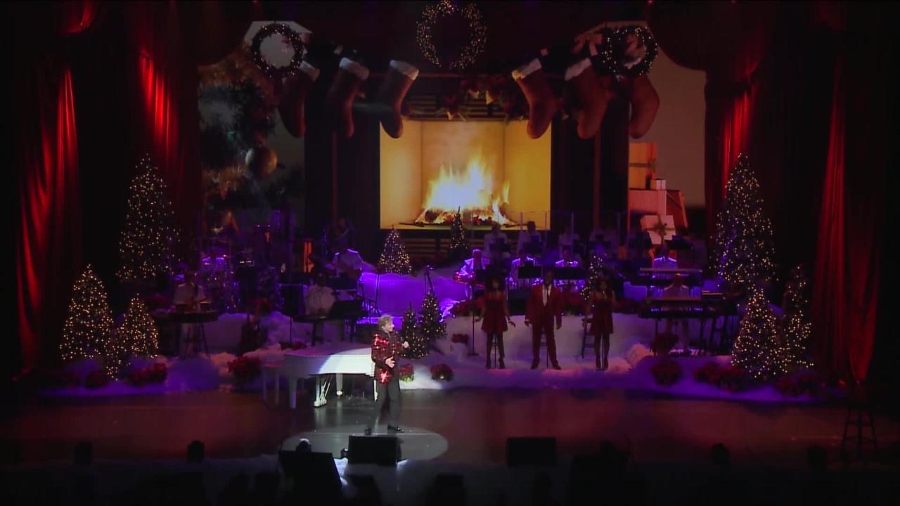"""Palm Springs resident Barry Manilow, shown performing """"A Very Barry Christmas,"""" will perform his holiday concert Dec. 15-16 at The Show in Rancho Mirage."""
