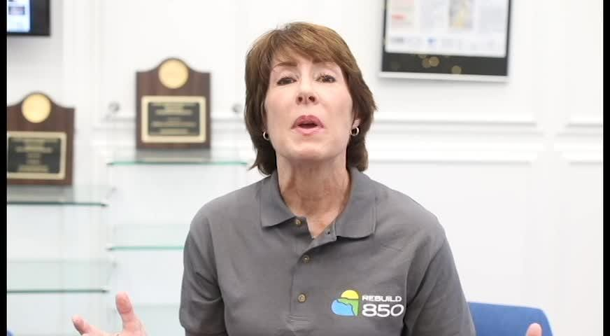 Gwen Graham, cochair of Rebuild 850 explains their purpose and how the public can help.