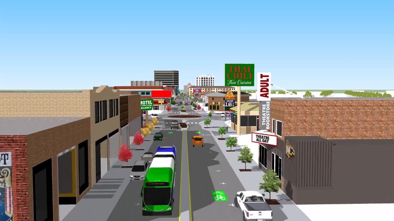Take a look at an artist's rendering of what Midtown Reno will look like when the Virginia Street Project is finished in 2020.