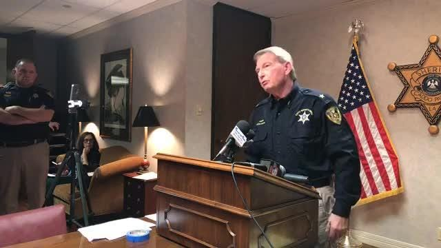 Press conference with Sheriff Steve Prator discussing criminal justice, including the specifics of the Dewayne Willie Watkins case.