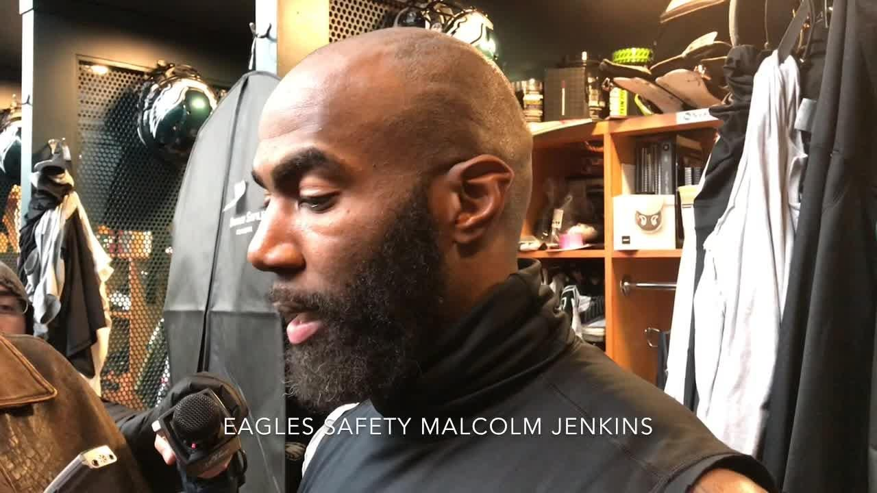 The Eagles will face the Cowboys with first place on the line. Lane Johnson, Malcolm Jenkins and Carson Wentz talked about it.