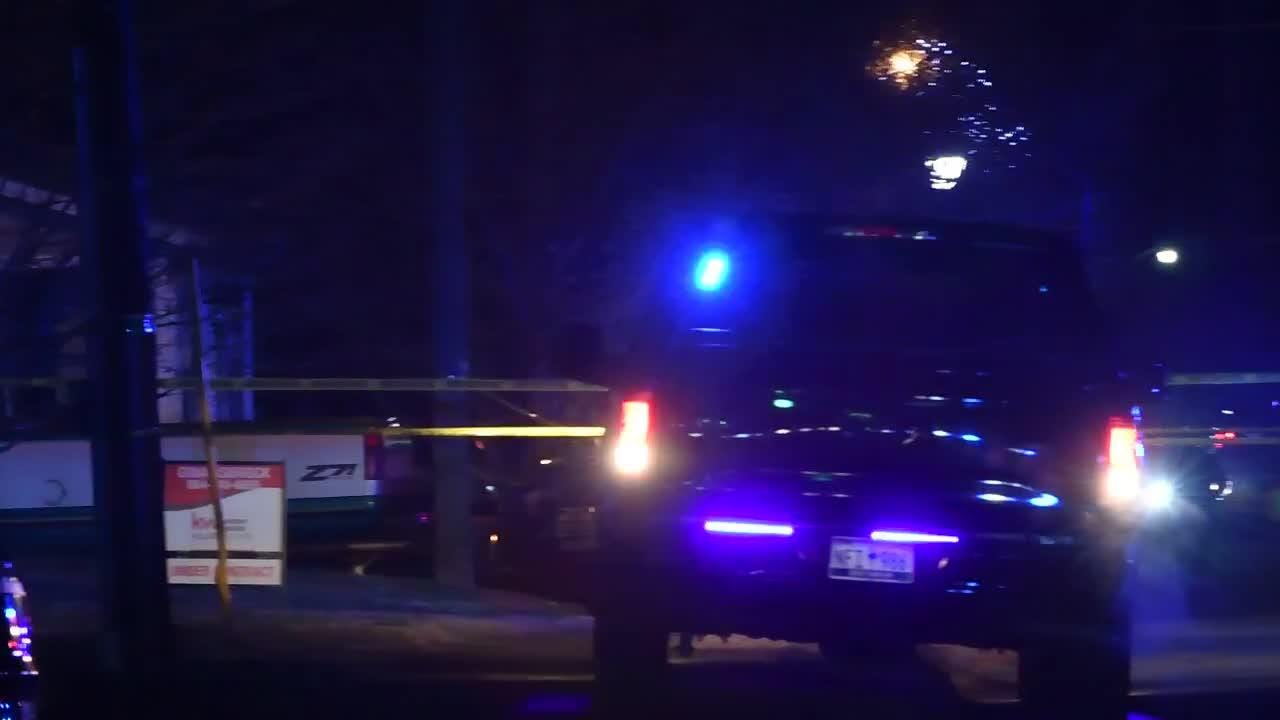 Officers respond to a deputy-involved shooting in Pelzer on Thursday, Dec. 6, 2018. The incident began as a domestic dispute.