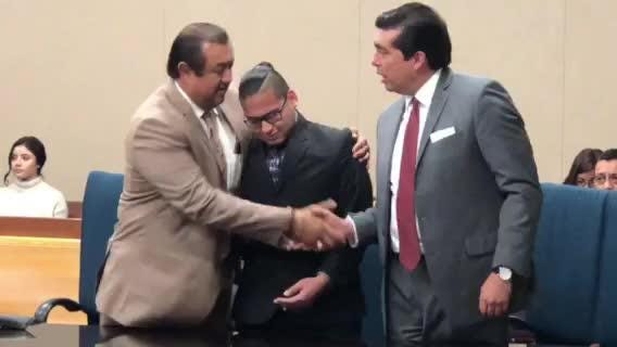 Reniery Adalberto Galeano, center, was acquitted in 168th District Court