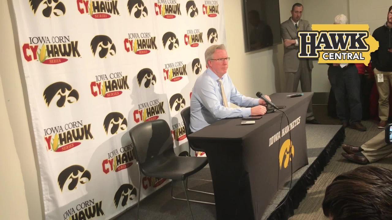 Iowa coach Fran McCaffery on a 'spirited' Cy-Hawk game