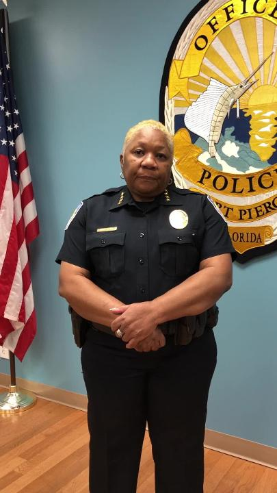Fort Pierce Chief of Police Diane Hobley-Burney discusses Thursday's officer-involved shooting that left one dead.