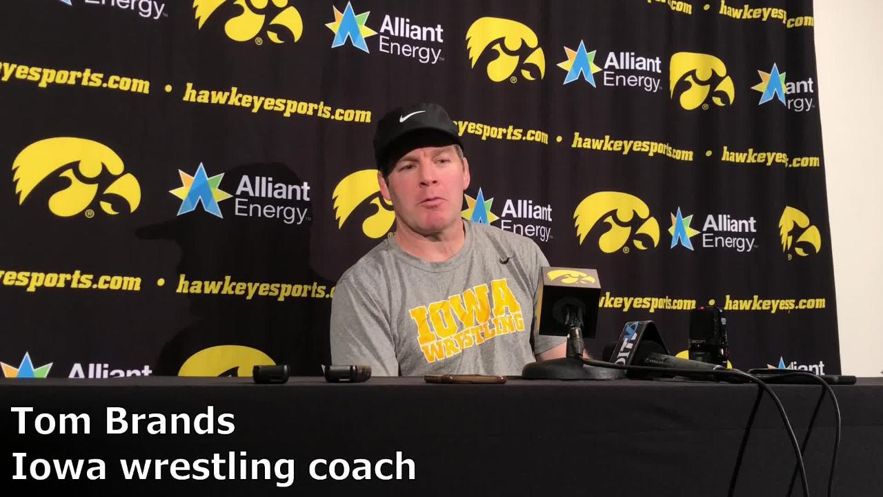 Iowa coach Tom Brands discusses Sam Stoll's health and what is expected of him moving forward.