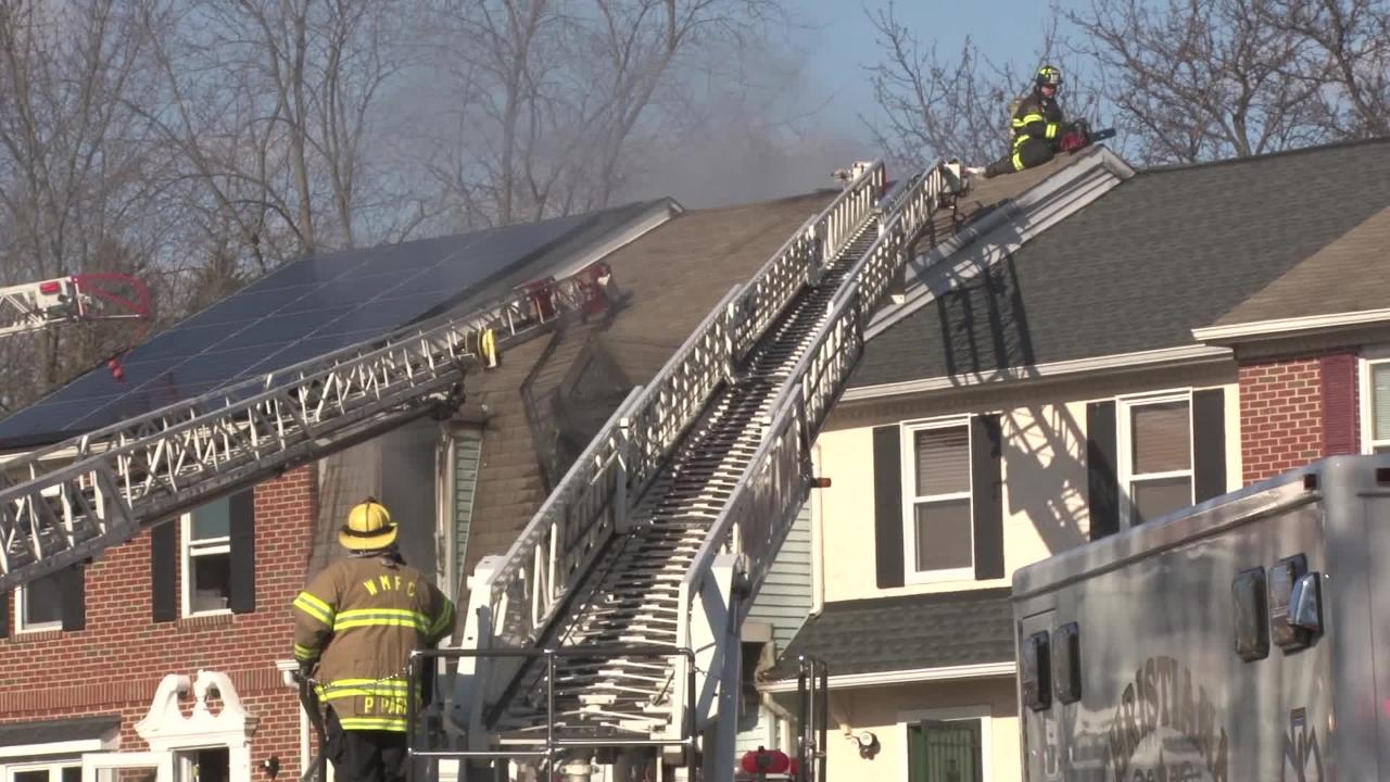 Raw Video: Old Forge Rd. fire kills one