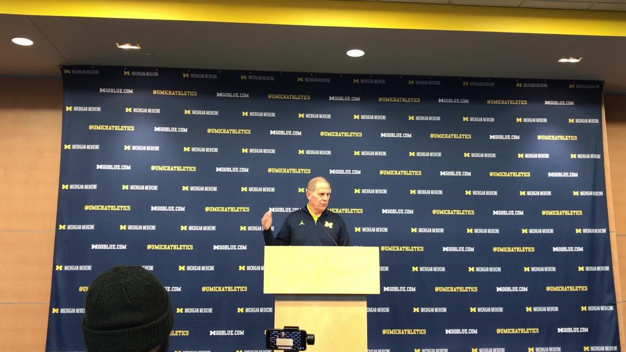 Michigan basketball coach John Beilein speaks to the media on Friday, Dec. 7, 2018, in Ann Arbor.