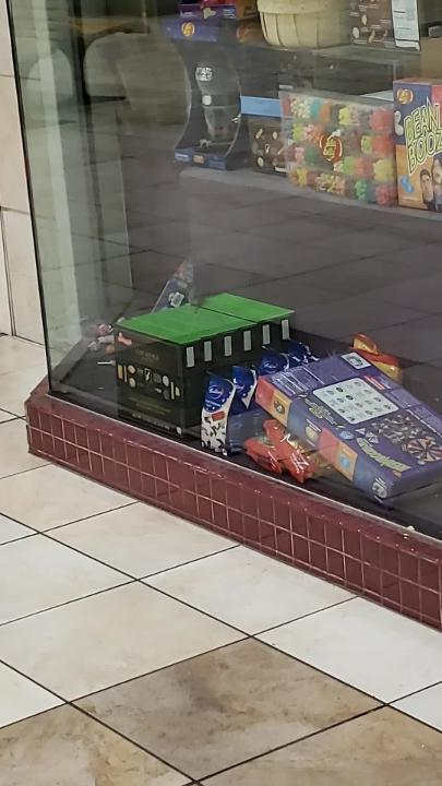 A Mall visitor caught a glimpse of a mouse in the display case of Sweets and Treats this week.