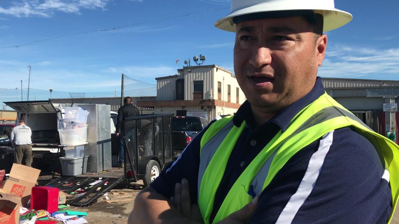 VIDEO Man dumped at Salinas garbage transfer station
