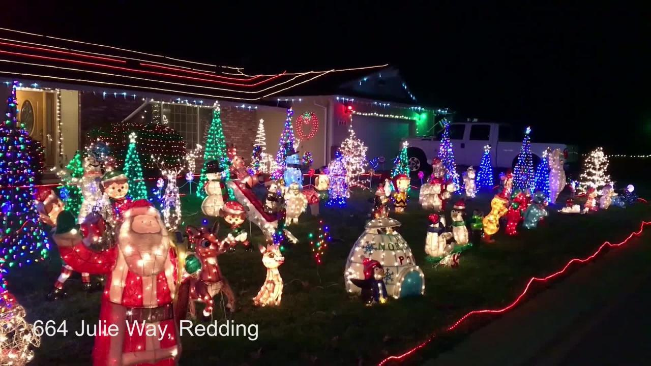 See an entry in the 34th annual Christmas decoration contest hosted by the Shasta Association of Realtors.
