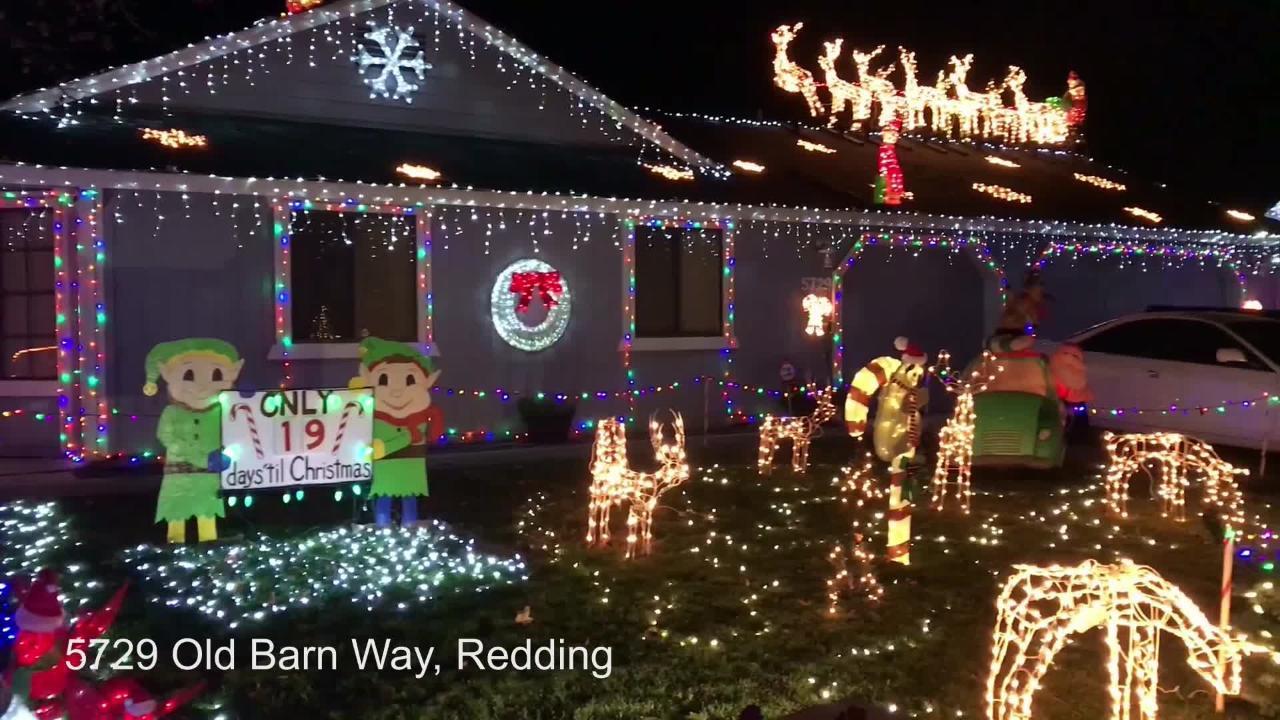 Redding Christmas Lights 2020 Let there be Christmas lights! House lights up Barn Way