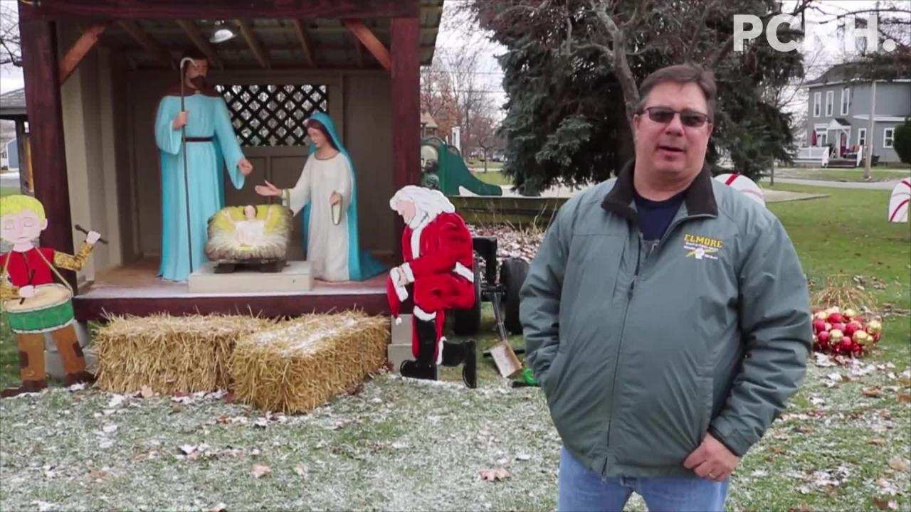 After being threatened with a lawsuit last year, Elmore's nativity scene is back on public property at Ory Park, but with added secular elements.