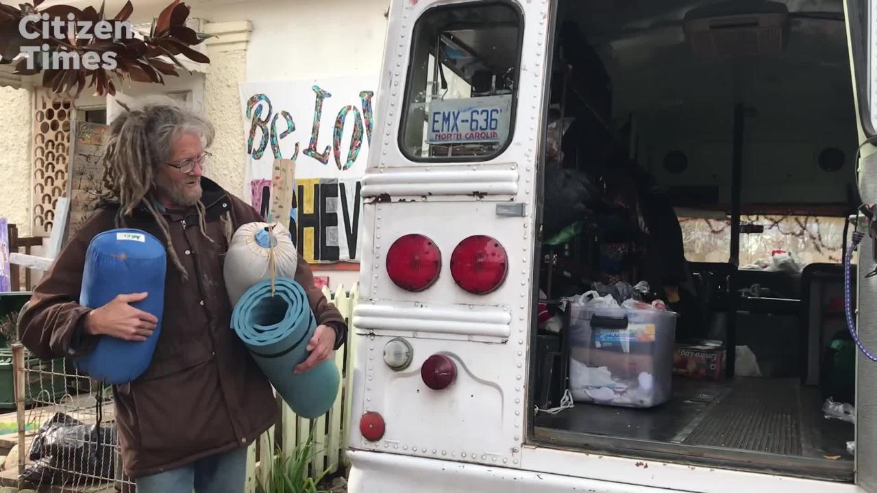 BeLoved Asheville core team member Adrienne Sigmon helps to prepare the homeless for winter weather.