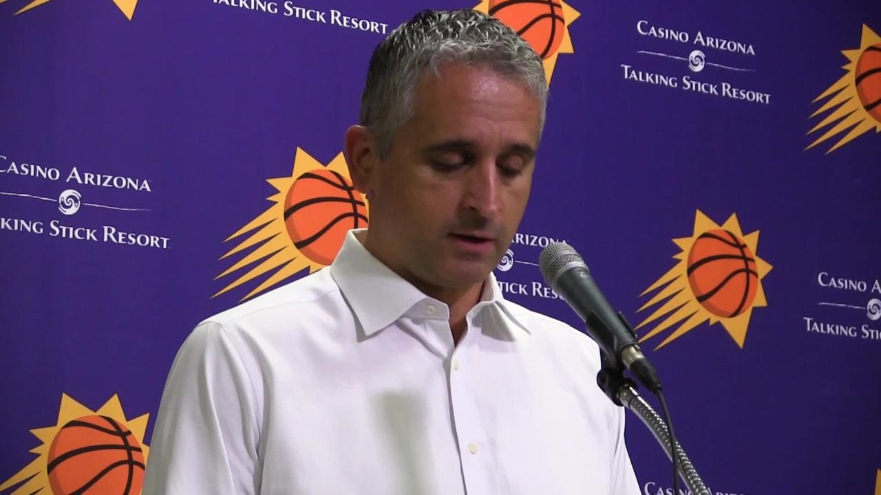 Phoenix Suns players Troy Daniels, Josh Jackson and first-year coach Igor Kokoskov talk about Friday's loss to Miami at Talking Stick Resort Arena.