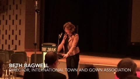 Beth Bagwell, executive director of the International Town Gown Association, stresses the importance of town gown collaborations.