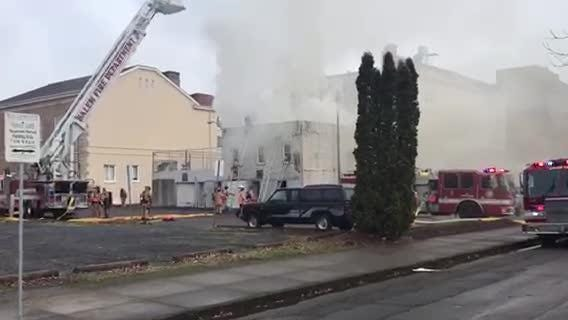 A fire near Church and Cottage streets NE in downtown Salem was quickly put out by Salem firefighters. Saturday, Dec. 8, 2018