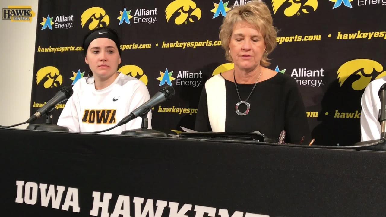 Megan Gustafson, Lisa Bluder break down Iowa's win over IUPUI