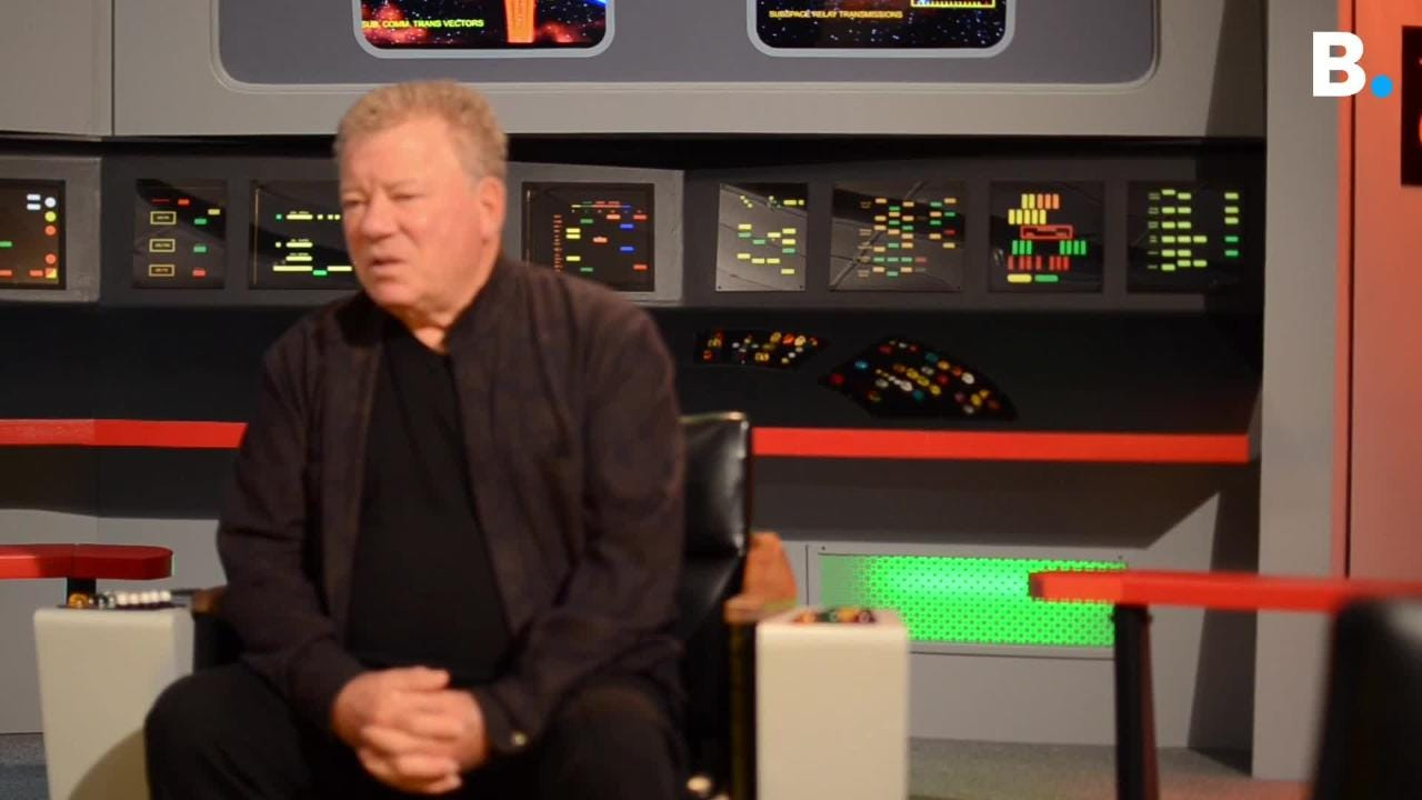 William Shatner, who played Captain Kirk on 'Star Trek', discussed its impact at the Original Series Set Tour in Ticonderoga, New York, Dec. 8, 2018.