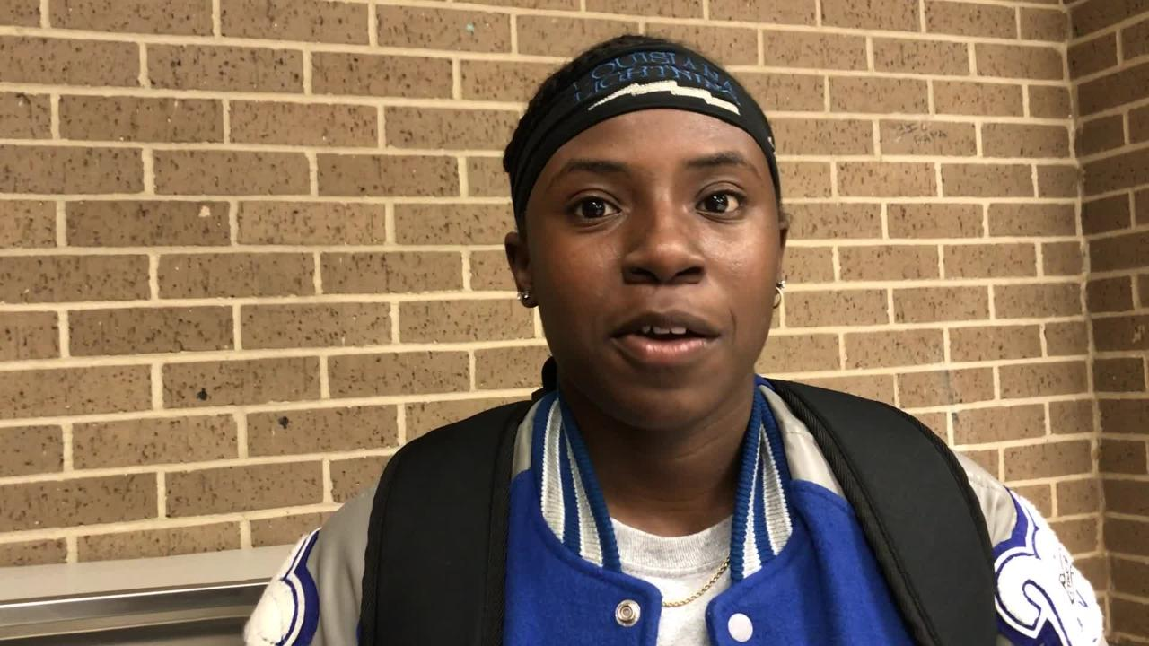 "Red River's Makayia ""MaeMae"" Hallmon talks about win over Stanley"