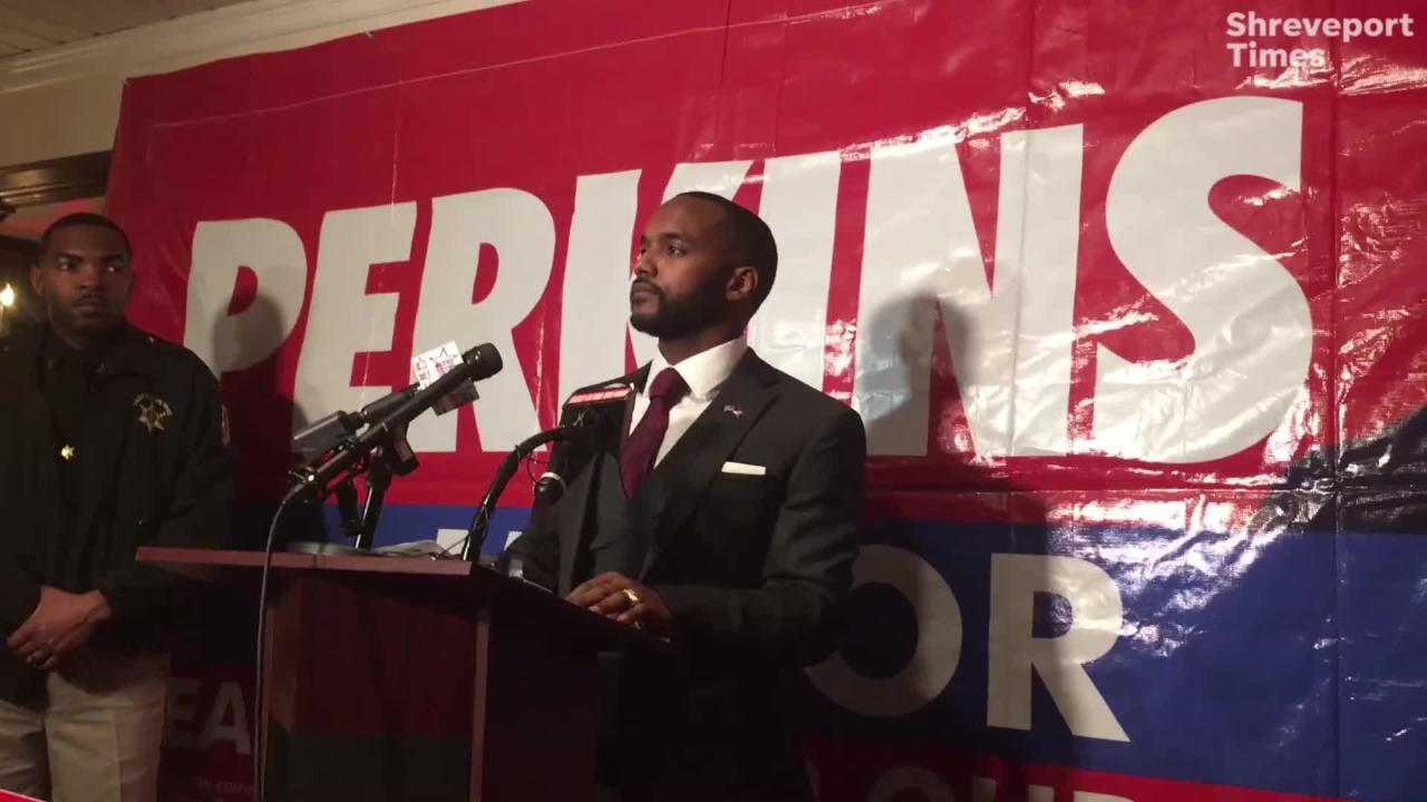 Adrian Perkins was elected mayor of Shreveport.