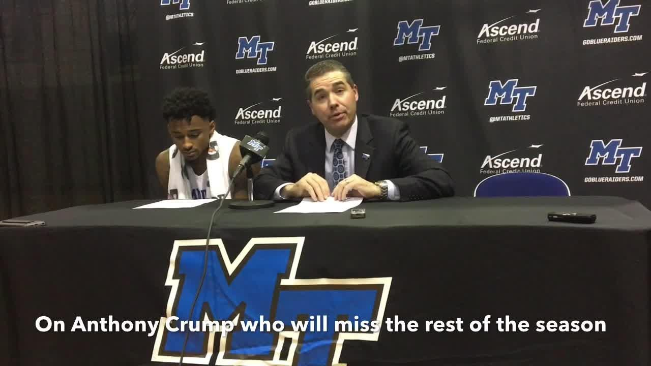 MTSU coach Nick McDevitt discusses the Blue Raiders' 64-42 loss to Murray State on Dec. 8, 2018.