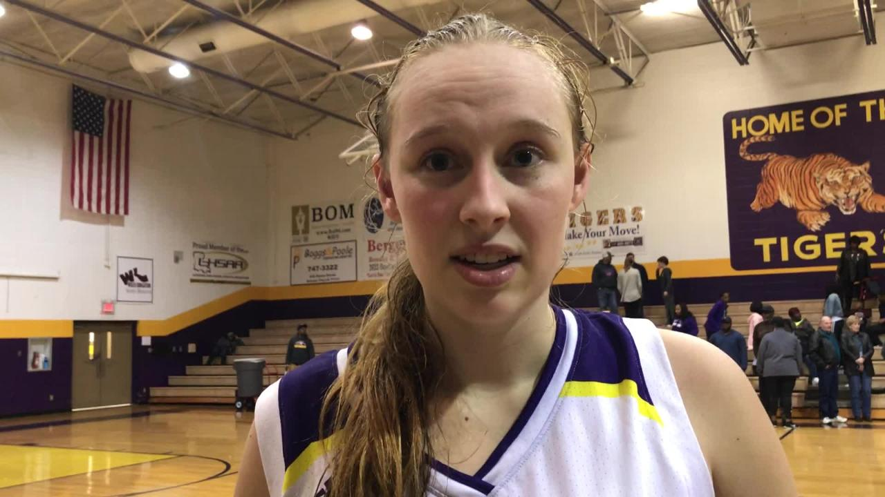 Benton's Emily Ward talks about scoring 48 points and taking the ACT