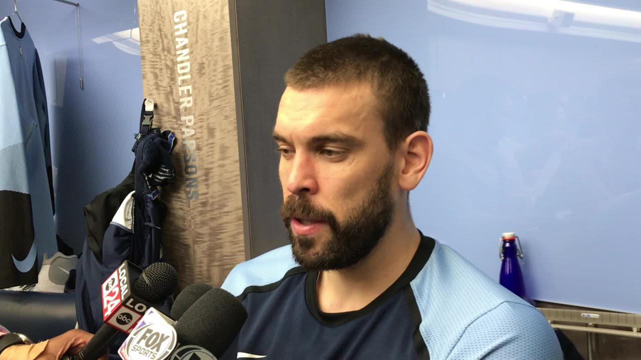 Marc Gasol shared some thoughts after the Grizzlies' lopsided loss to LeBron James and the Los Angeles Lakers.